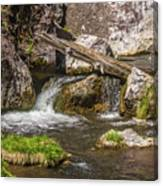 Small Falls Below Big Falls Canvas Print