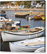 Small Fishing Boats Canvas Print