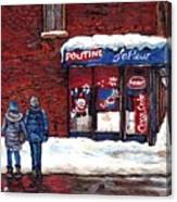 Small Format Paintings For Sale Poutine Lafleur Montreal Petits Formats A Vendre Cspandau Artist  Canvas Print