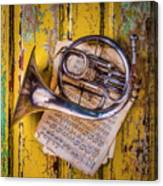 Small French Horn Canvas Print