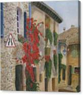 Small French Village Canvas Print