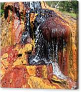 Small Geyser In Yellowstone Canvas Print