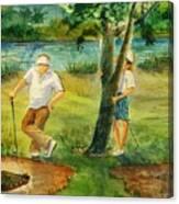 Small Golf Hazard Canvas Print