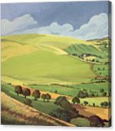 Small Green Valley Canvas Print