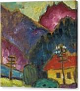 Small Landscape With Telegraph Canvas Print