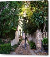 Small Lane In Charleston Canvas Print