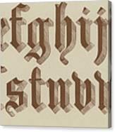 Small Old English Riband  Canvas Print