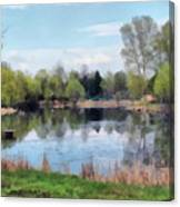 Small Pond In Tomilino Canvas Print