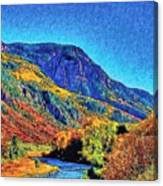 Small River Valley Canvas Print