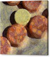 Small Round Stones Canvas Print
