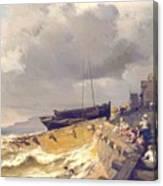 Small Seaport Near St. Malo In The Bretagne Canvas Print