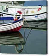 Small Skiffs - Lyme Regis Harbour Canvas Print