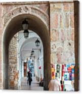 Small Stall In Cuenca Ecuador Canvas Print