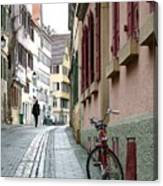 Small Street In Tubingen. Canvas Print