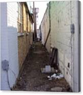 Small Town Alley Canvas Print