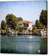 Small Town In Greece Canvas Print