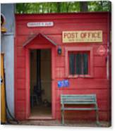 Small Town Post Office Canvas Print