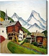 Small Town Canvas Print