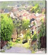 Small Town Scape Canvas Print
