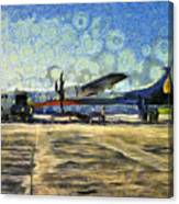 Small Turboprop Plane Canvas Print