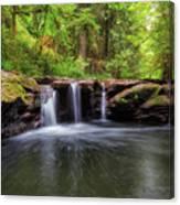Small Waterfall At Rock Creek Canvas Print