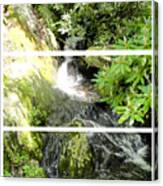 Small Waterfall Smoky Mountains Triptych Canvas Print