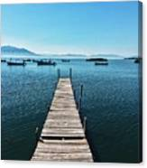 Small Wood Pier Canvas Print