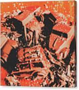 Smashem Crashem Cars Canvas Print