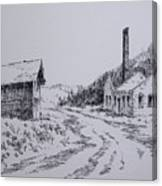 Smelter Ruins Glendale Ghost Town Montana Canvas Print