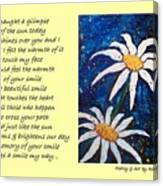 Smile - Poetry In Art Canvas Print