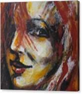 Smile - Portrait Of A Woman Canvas Print