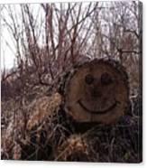 Smiley Log Canvas Print