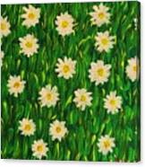 Smiling Margaret's Flowers Canvas Print