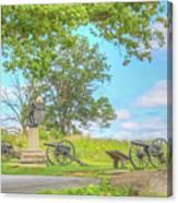 Smiths Battery Devils Den Gettysburg Canvas Print