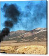 Smoke In The Sky. Canvas Print