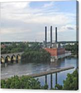 Smokestacks On The Mississippi Canvas Print