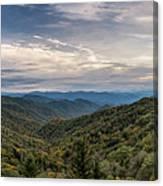 Smokey Mountain Sky Canvas Print