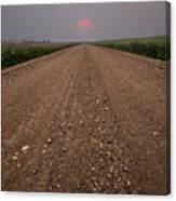 Smokey Road To Nowhere Canvas Print