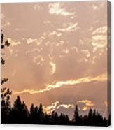 Smokey Skies Sunset Canvas Print