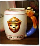 Smokey The Bear Mug Canvas Print