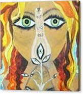 Smokin Bellydancer Canvas Print