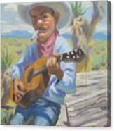 Smokin Guitar Man Canvas Print