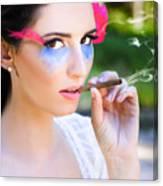 Smoking Glamour Canvas Print