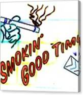 Smoking Good Times Canvas Print