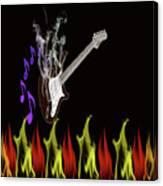 Smoking Guitar Canvas Print