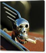 Smoking Skull Hood Ornament Canvas Print