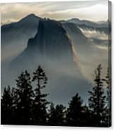 Smoky Dawn At Yosemite Canvas Print