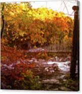 Smoky Mountain Suspension Bridge Oil Painting Canvas Print