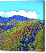 Smoky Mountains Scenery 6 With Sunny Day Filter Canvas Print
