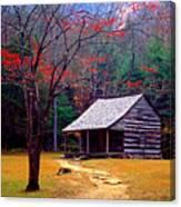 Smoky Mtn. Cabin Canvas Print